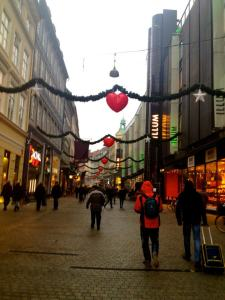 Christmas decorations on Stroget